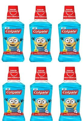 Colgate Despicable Me Minions Kids Mouthwash 6x 250ml Bottles *6-12 Years Old*