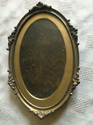 Sweet Miniature Ornate French Antique Glazed  Picture Frame
