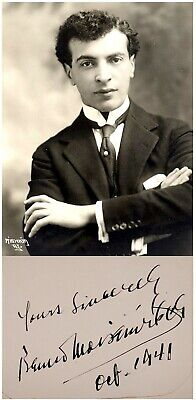 1941 Pianist BENNO MOISEIWITSCH Hand SIGNED AUTOGRAPH + PHOTO + MAT Jewish PIANO