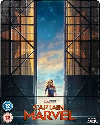Captain Marvel 3D/2D Limited Edition Blu Ray Steelbook New Sold Out