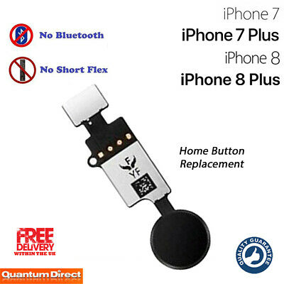 NEW iPhone 7 Plus Complete Home Button Replacement NO Bluetooth Required - BLACK
