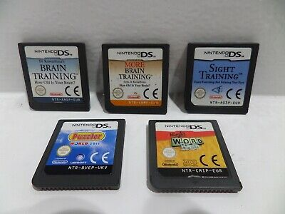 5X Nintendo DS Puzzle Brain Games,Job Lot! *Free Postage*