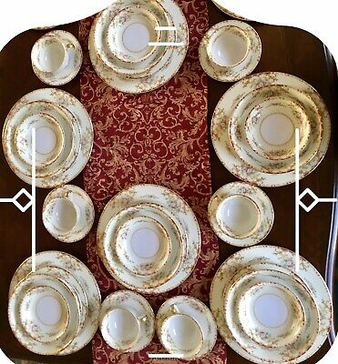 Antique Noritake Japan China Set 1930 Lismore Pattern 42.Pieces Service for Six