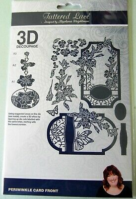 TATTERED LACE Detailed and Delicate Periwinkle Card Front die set 3d decoupage
