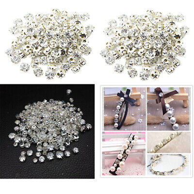 Prettyia 200pcs Sew On Crystals Rhinestone Faceted Beads Embellishment 7mm
