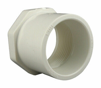 "Charlotte Pipe Reducing Bushing Sch 40 Pvc Spg X Fpt 2 "" X 1-1/4 "" White"