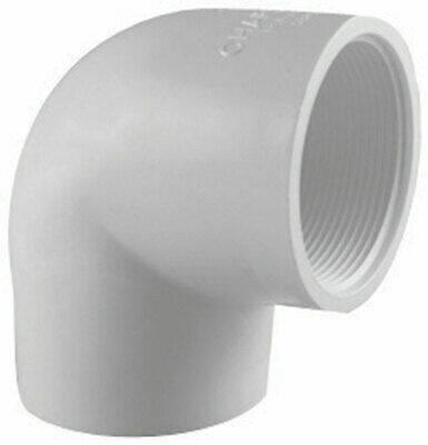 "Charlotte Pipe 90 Deg. Elbow Sch 40 Pvc 1-1/4 "" White"