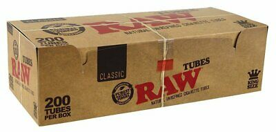 RAW CLASSIC KING SIZE NATURAL UNREFINED CIGARETTE FILTER TUBES for MAKE YOUR OWN