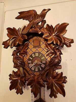 8 DAY BLACK FOREST CUCKOO CLOCK/  Fully servised ! Night switch off / Very clean