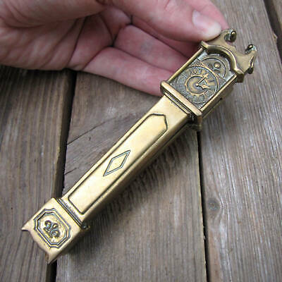 Vintage Solid Brass Grandfather Clock Door Knocker
