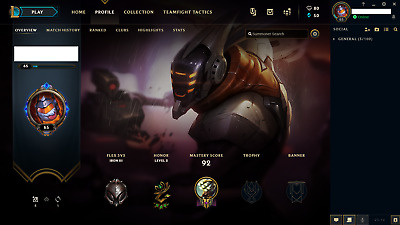 League of Legends Account / LOL / NA / Iron III / 35 Champs / 5 skins
