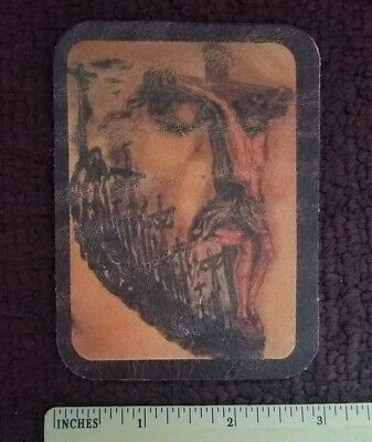 100/% LEATHER MOSES TEN COMMANDMENTS religious  Motorcycle BIKER  PATCH