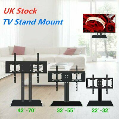 "Universal Adjustable Table TV Stand Bracket Mount Base for 22-70"" LED LCD Screen"