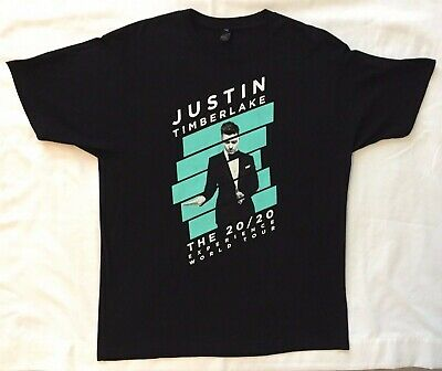 Justin Timberlake 20/20 Experience World Tour Black T-shirt XL Concert Dance pop