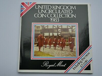 1983 Royal Mint Annual Coin Set Collection BU Brilliant Uncirculated