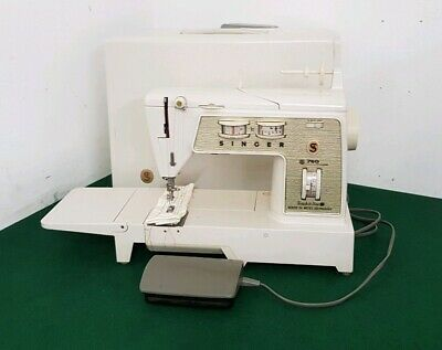 Vintage SINGER 760 Touch & Sew Electric Sewing Machine with Foot Pedal & Case