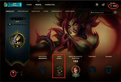 LOL League of Legends EUW Account (self-played rare Legacy Skins Smurf Acc)