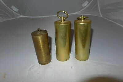 Vintage antique grandfather? clock brass weights