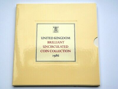 1986 Royal Mint Annual Coin Set Collection BU Brilliant Uncirculated