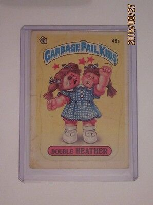 49a DOUBLE HEATHER Garbage Pail Kids GPK Trading Card 1985 Topps School of ...