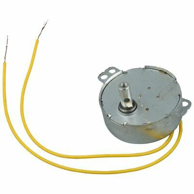 Yellow Wired AC 220V 50/60Hz 3 Watt 5RPM Synchronous Motor B8M6