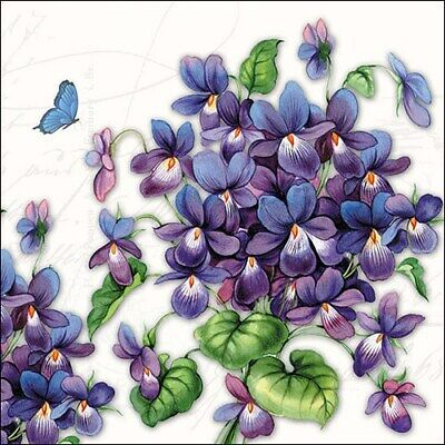 Natural Leaves 3-ply 20 Paper Napkins 33x 33cm luncheon size Lilac