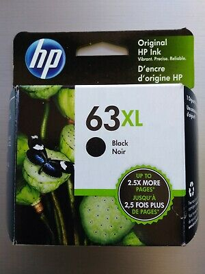 HP 63XL Black 1 HP Original Ink Cartridge F6U64AN. Exp. Mar 2021. New!