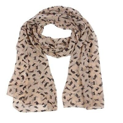 Cat Print Scarf Celebrity Fashion Shawl Scarves WRAP Ladies Animal New Soft W1A7