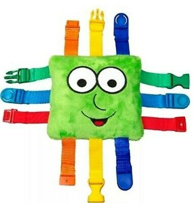 Original Buster Buckle Toy - Educational Colourful Learning Plush - UK stock New