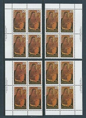 Canada #775 Christmas - Paintings Matched Set Plate Block MNH