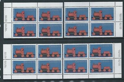 Canada #839 Christmas - Antique Toys Matched Set Plate Block MNH