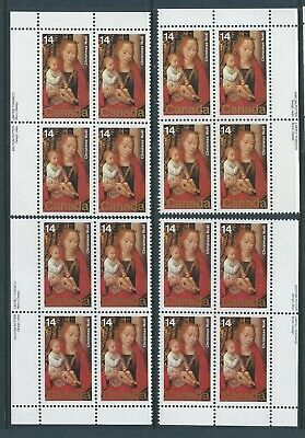 Canada #774 Christmas - Paintings Matched Set Plate Block MNH