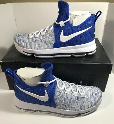 premium selection 2b783 34ece NIKE ZOOM KD 9 Home II GS Youth Size 6Y Flyknit Blue White ...