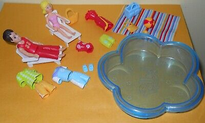 Polly Pocket Poolin Around Dolls Clothes Pool Towel Ball Lawn Chairs etc