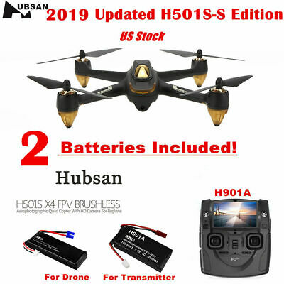 Hubsan X4 H501S S Pro Drone 5.8G FPV Brushless Quadcopter 1080P GPS RTH RTF 2019