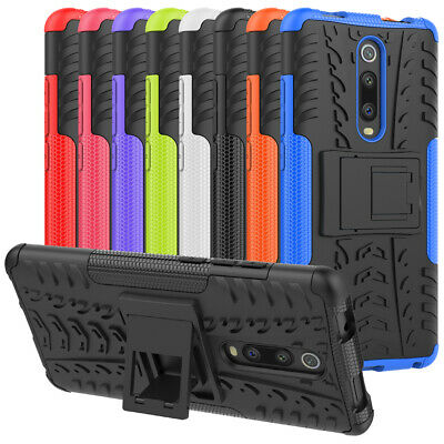 For Xiaomi Mi 9T Case Rugged Armor Dual Layer Hybrid Shockproof Kickstand Cover