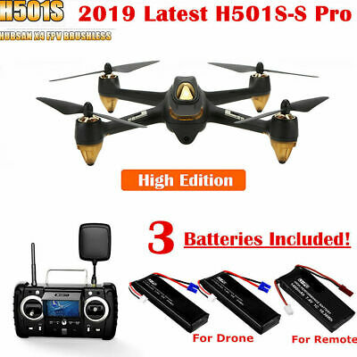 Hubsan H501S S Pro X4 FPV Drone 1080P GPS RC Quadcopter W/Brushless RTF,3Battery