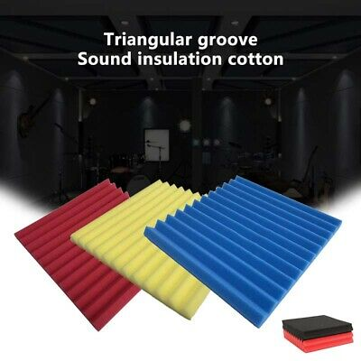 6/12/24X Acoustic Wall Panels Sound Proofing Foam Pads Studio Treatments Tool