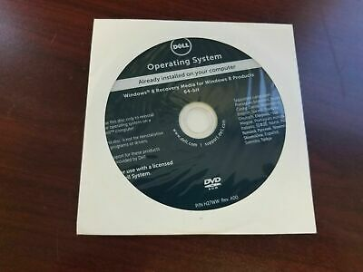 GENUINE DELL RECOVERY Reinstallation DVD for Windows 8