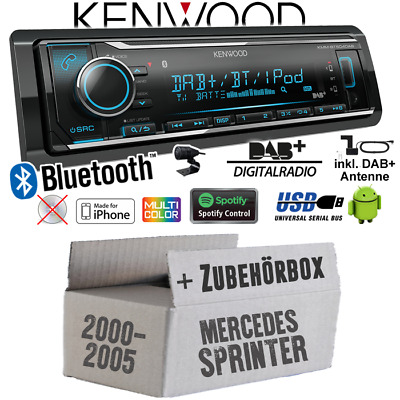 Kenwood Autoradio für Mercedes Sprinter bis 2005 DAB+ Bluetooth/iPhone/Android