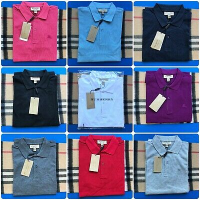 Burberry London Mens Solid Casual Polo Shirts
