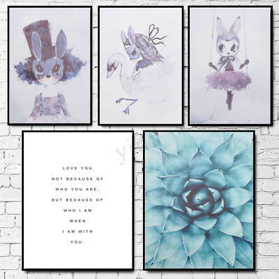 Modern Nordic Minimalist Flower Canvas Art Poster Print Wall Picture Home Decor