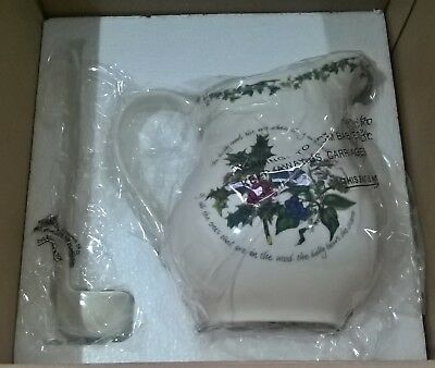 Portmeirion The Holly And The Ivy Jug And Ladle Set New & Unused