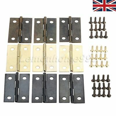 10Pcs 35*21mm Mini Flat Music Box Hinge Retro Jewelry Chests Decoration UK STOCK