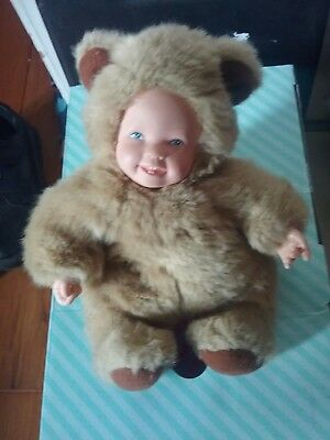 Baby Bears Doll by Anne Geddes, No. Vintage 1999  Bean Filled used