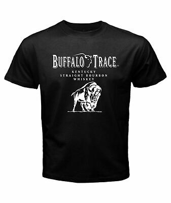 BUFFALO TRACE Distillery in Frankfort Bourbon Whiskey Mens Black T Shirt
