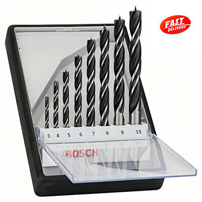 BOSCH 2607010533 Compact Robust Line Brad Point 8 Piece Drill Bit Set 3-10mm