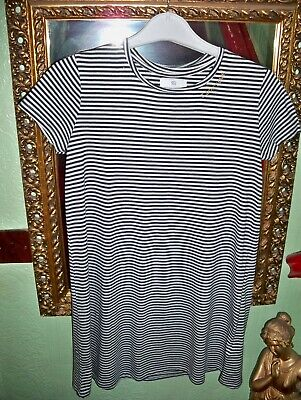 Girls Shift Dress Navy& White Striped Age 12 Years By La Redoute G/Con.