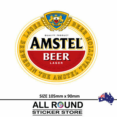 Amstel lager beer Stickers  Camping Trailer Bar Fridge car