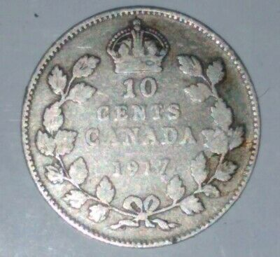 Canada 1917 Silver Ten Cents George V